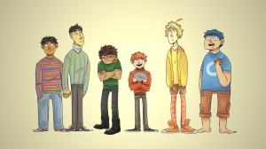 Desktop Wallpaper: 6 boys illustration