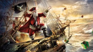 Desktop Wallpaper: Santa Claus pirate o...