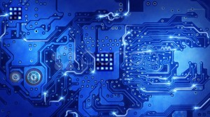 Desktop Wallpaper: Blue circuit board