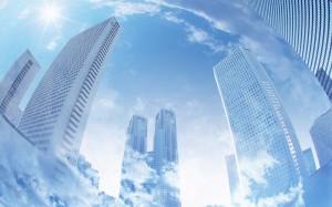 Desktop Wallpaper: Skyscrapers Tower ov...