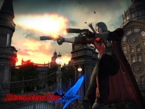 Desktop Wallpaper: Dante with Guns