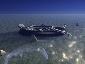 Desktop Wallpaper: Skeleton in the Boat