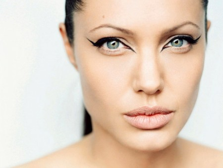 Angelina with Make-up