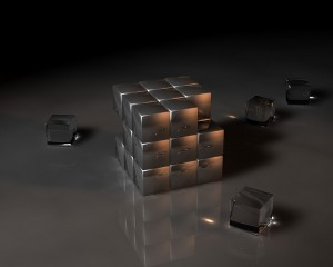 Desktop Wallpaper: Transparent Cubes