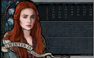 Desktop Wallpaper: Sansa Stark from the...