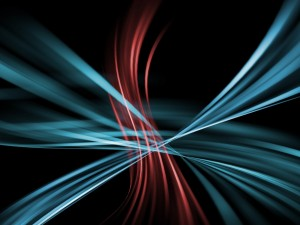 Desktop Wallpaper: Red and Blue Lines A...