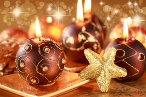 Desktop Wallpaper: Brown Christmas Ball...