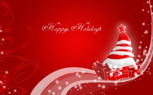 Desktop Wallpaper: Happy Holidays Poste...