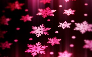 Desktop Wallpaper: Pink Snow Flakes