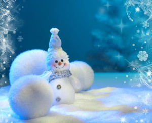 Desktop Wallpaper: White Snowman Orname...