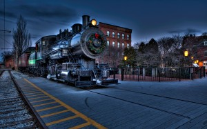 Desktop Wallpaper: Black Steam Train