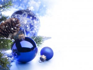 Desktop Wallpaper: Blue Christmas Ball