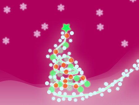 White Blue And Orange Christmas Tree Clip Art