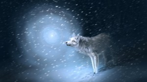 Desktop Wallpaper: White Wolf Illustrat...