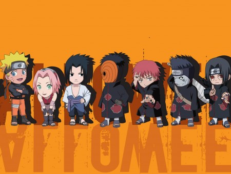 Naruto Characters Illustration