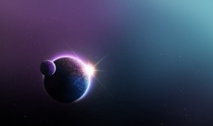 Desktop Wallpaper: Planet With Moon Ill...
