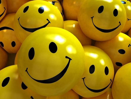 Yellow Smiley Toy