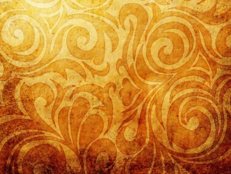 Brown And Beige Floral Wallpaper