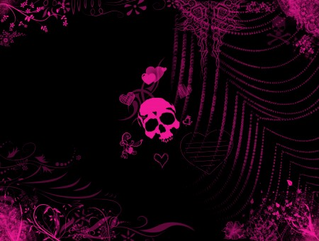 Pink Skull Illustration