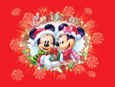 Christmas Mickey And Minnie Mouse Sign
