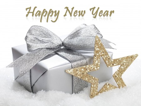 Happy New Year Gold Star