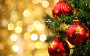 Desktop Wallpaper: Red And Gold Christm...
