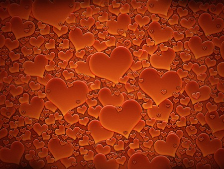 Orange Hearts Wallpaper