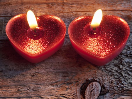 Red Heart Shape Candle