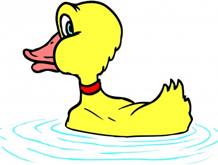 Yellow And Red Duck Illustration