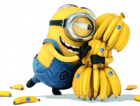 Yellow Minion With Bananas