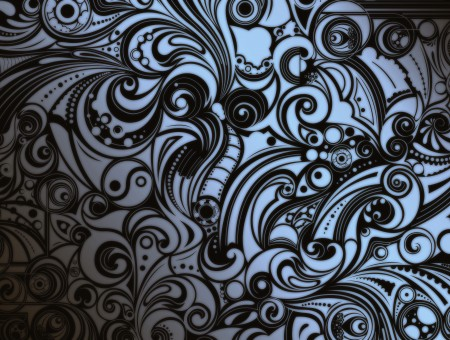 Black And White Paisley Pattern