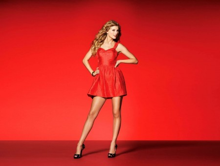 Women's Red Sweetheart Neckline Sleeveless A Line Mini Dress