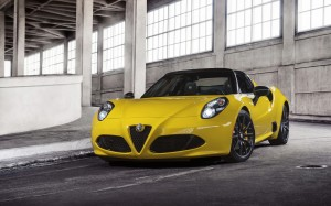 Desktop Wallpaper: Yellow Alfa Romeo 4c...