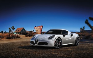 Desktop Wallpaper: White Alfa Romeo 4c ...