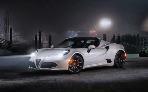 Desktop Wallpaper: White Alfa Romeo 4c