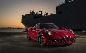 Desktop Wallpaper: Red Alfa Romeo 4C