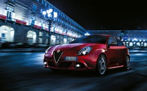 Desktop Wallpaper: Red Alfa Romeo Mito