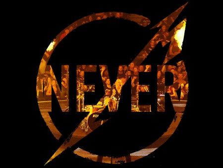 Never Gold Black Round Logo