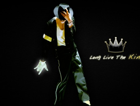 Michael Jackson With Long Live The King Caption