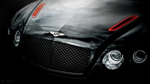 Desktop Wallpaper: Black Bentley Contin...