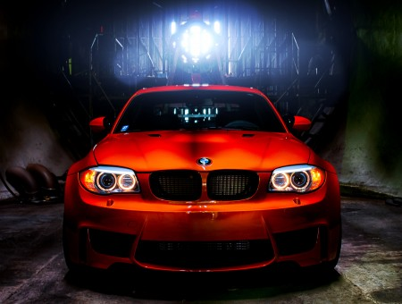 Red BMW Inside Wind Tunnel