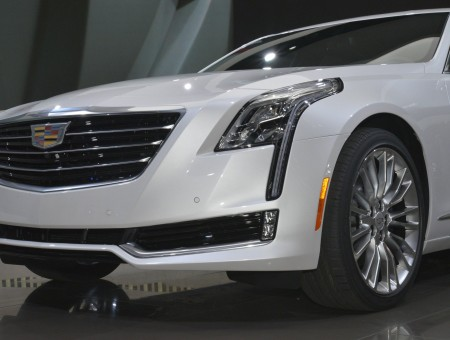 White Cadillac STS Luxury Car