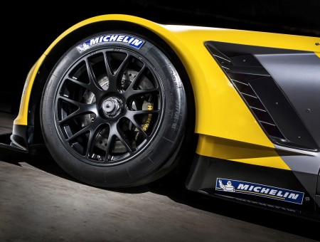 Black Gray And Yellow Car With Black Michelin Tire Wallpapers