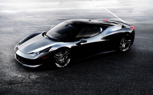 Desktop Wallpaper: Black Ferrari 458 It...