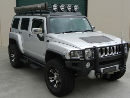 Silver And Black Hummer H3