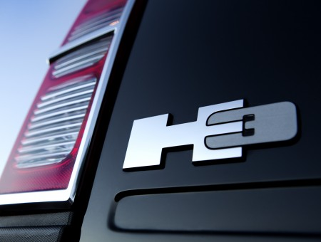 Close Up View Of Silver H3 Emblem