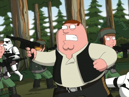 Peter Griffin Holding Black Gun