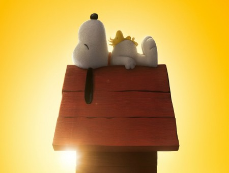 Snoopy Lying On Dog House Roof