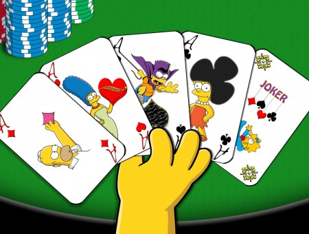 The Simpsons Aces Playing Cards