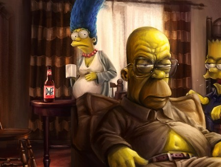 The Simpsons 3d Illustration